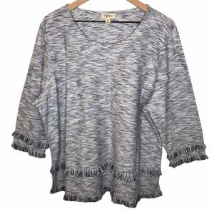 Style & Co Graphic Refresh Fringe Top